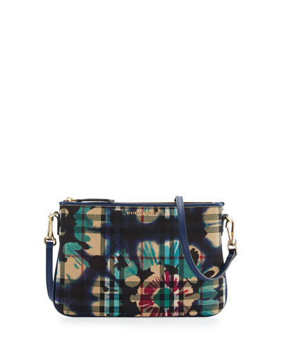 Peyton Horseferry Check Print Shoulder Bag, Brilliant Navy