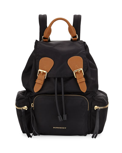 Nylon Backpack, Black