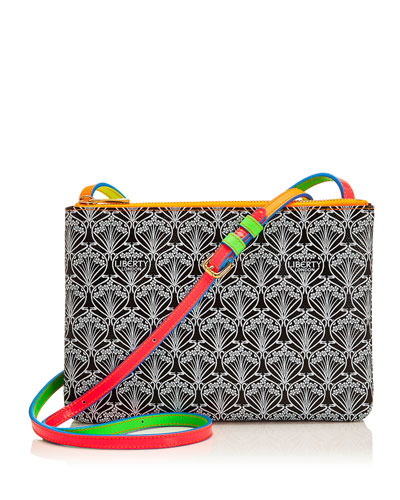 Bayley Duo Iphis Printed Canvas Shoulder Bag, Neon