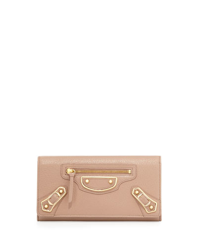 Edge Money Leather Wallet, Rose