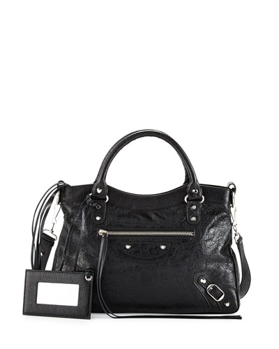 Classic Nickel Town Tote Bag, Black