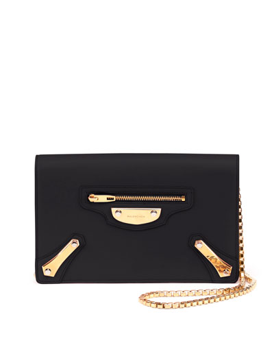 Metal Plate Wallet-on-Chain, Black
