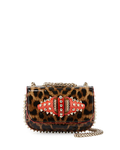 Sweet Charity Patent Leather Shoulder Bag, Brown Leopard