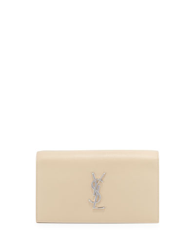 Monogram Grain Calfskin Clutch Bag, Nude Powder