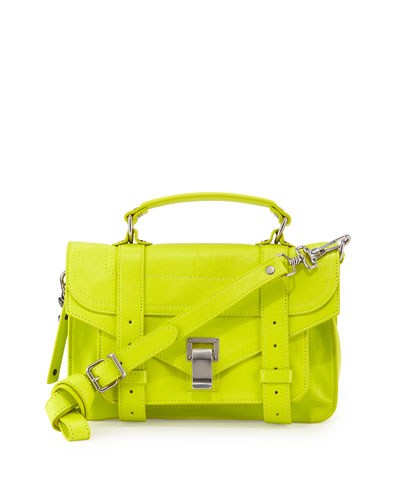 PS1 Tiny Leather Mail Bag, Yellow