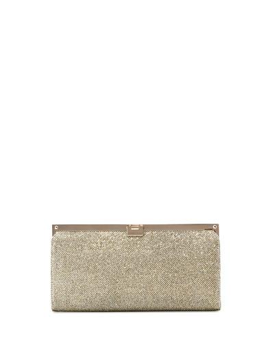 Camille Metallic Frame Clutch Bag, Light Bronze