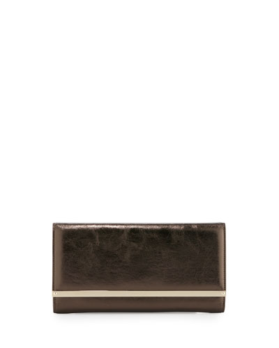 Maia Leather Day Clutch Bag, Pecan