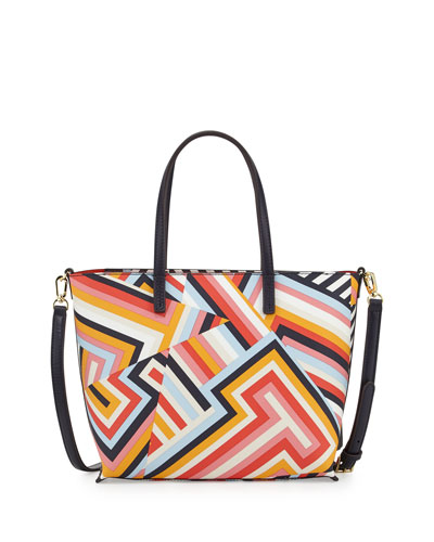 Kerrington Small Square Tote Bag, Cutout T Print