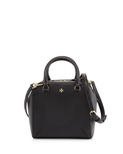 Robinson Pebbled Mini Satchel Bag, Black