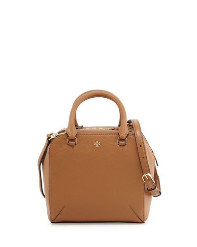 Robinson Pebbled Mini Satchel Bag, Tiger's Eye