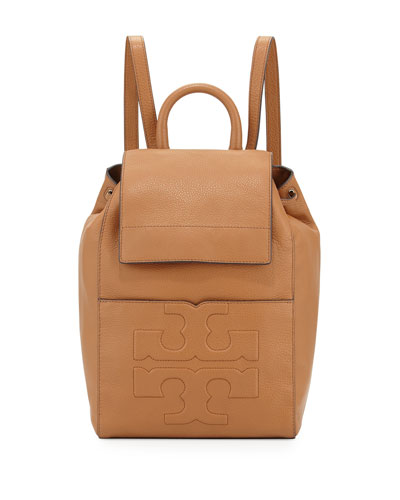 Bombé-T Flap Leather Backpack, Bark