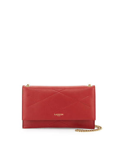 Sugar Lambskin Wallet-On-Chain, Red