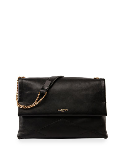 Sugar Medium Lambskin Shoulder Bag, Black