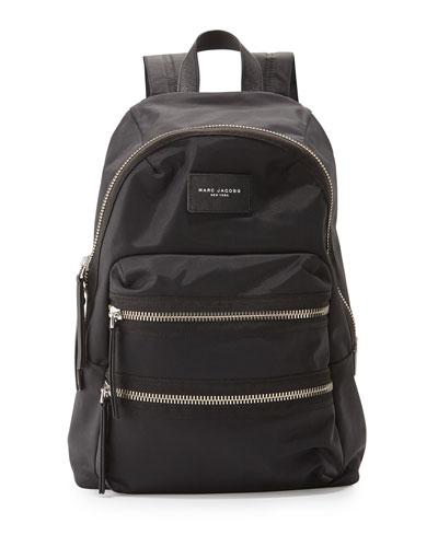 Packrat Nylon BIker Backpack, Black