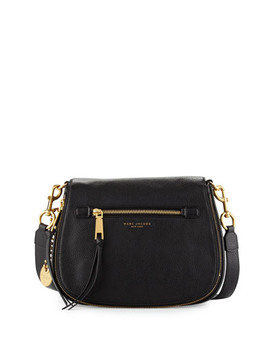 Recruit Leather Saddle Bag, Black