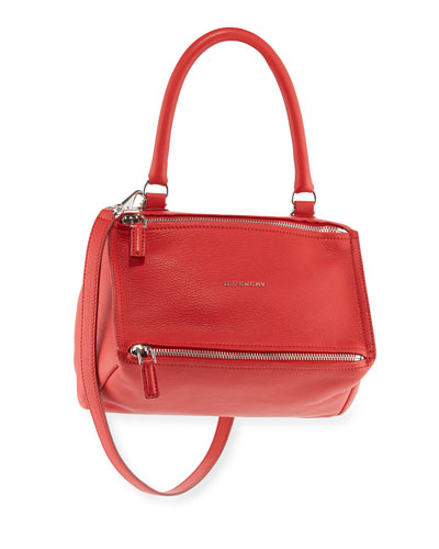 Pandora Small Leather Shoulder Bag, Red