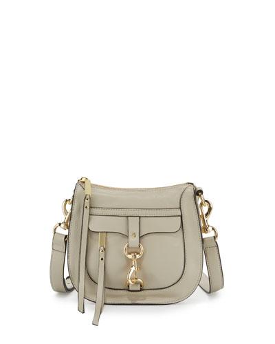 Leather Dog Clip Saddle Bag, Khaki