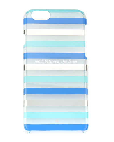 read between the lines iPhone 6/6s case, blue/multi