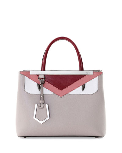 Petite 2Jours Monster Satchel Bag, Taupe/Pink/Red