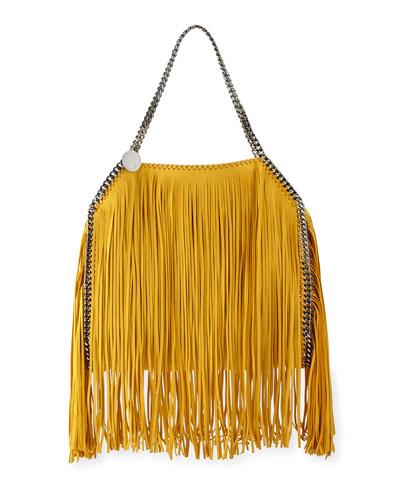 Falabella Small Fringe Tote Bag, Sun