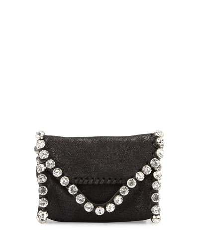Falabella Tiny Crossbody with Crystals, Black