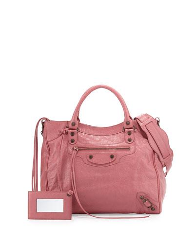 Classic Velo Lambskin Crossbody Bag, Rose