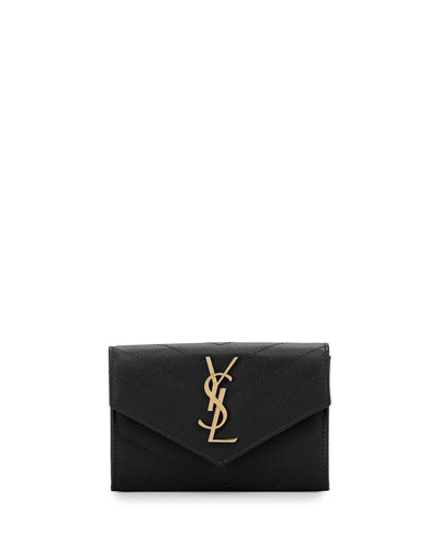 Monogram Small Envelope Wallet, Black