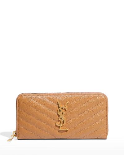 Monogram Matelassé Zip-Around Wallet