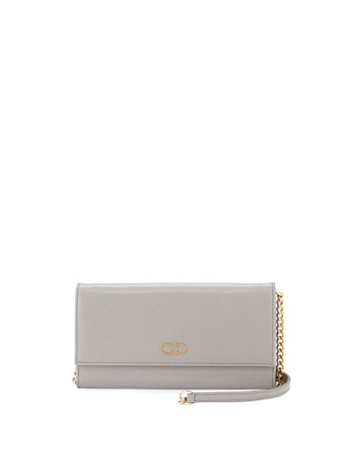 Gancini Icona Mini Wallet-On-Chain Bag, Gris