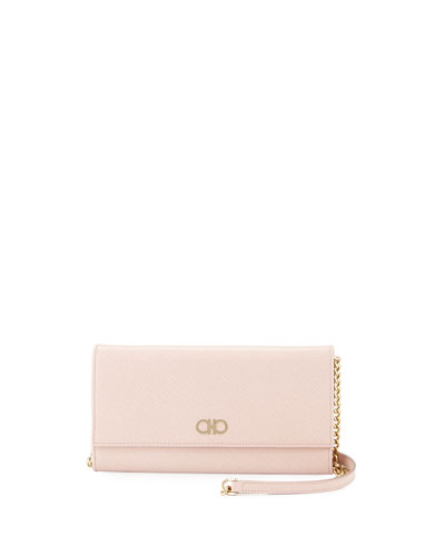 Gancini Icona Mini Wallet-On-Chain Bag, Bonbon