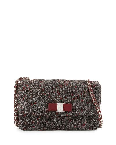 Vara Soft Boucle Crossbody Bag, Opera Multi