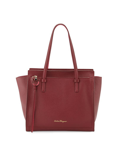 Amy Medium Gancio Leather Tote Bag, Opera/Framboise