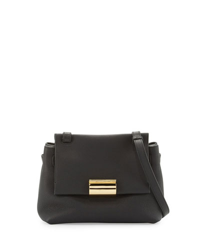 Ginger Small Gancio Crossbody Bag, Nero