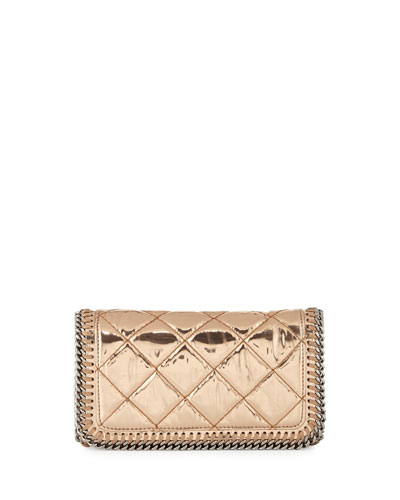 Falabella Crossbody Clutch Bag, Copper