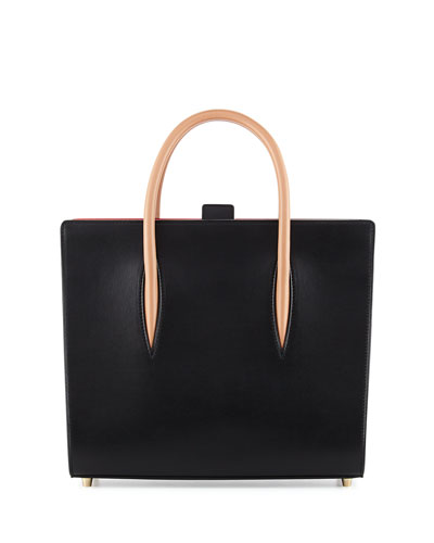 Paloma Medium Triple-Gusset Tote Bag, Black