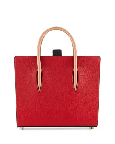 Paloma Medium Triple-Gusset Tote Bag, Red