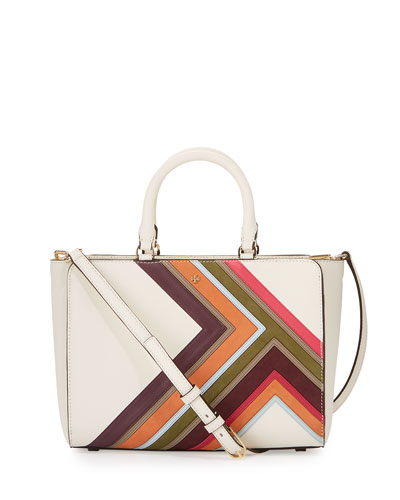 Robinson Multi-Stripe Small Zip Tote Bag, New Ivory