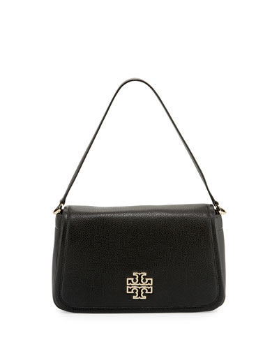 Britten Leather Shoulder Bag, Black