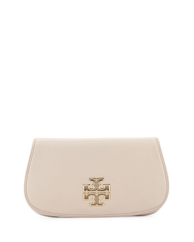 Britten Leather Clutch Bag, Light Oak