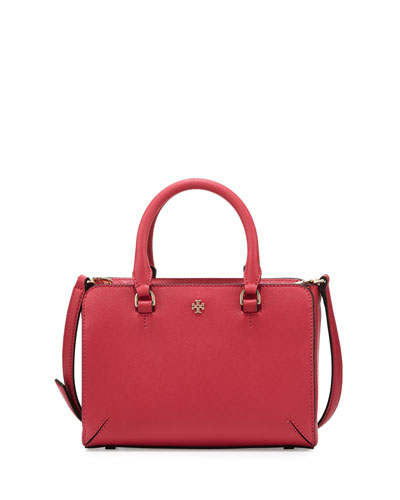 Robinson Micro Zip-Top Tote Bag, Dark Peony