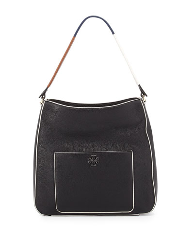 Berkeley Wrap-Strap Hobo Bag, Black/Multi