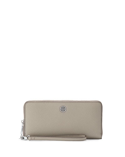 Perry Saffiano Continental Passport Wallet, French Gray