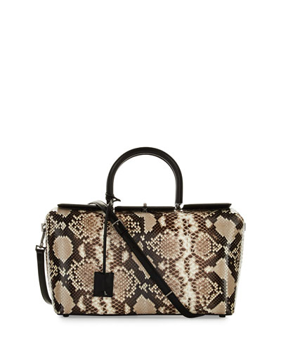 India Medium Python Tote Bag