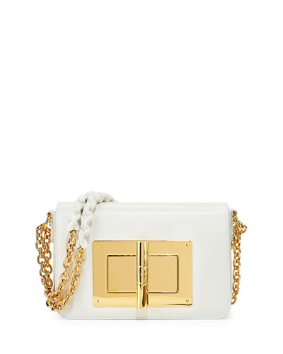 Natalia Small Chain Crossbody Bag, White