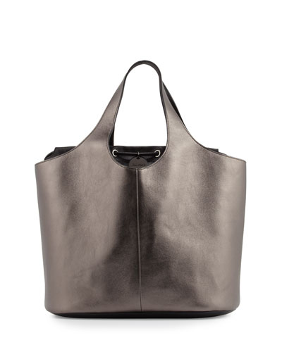 Miranda Metallic Medium Tote Bag with Pouch
