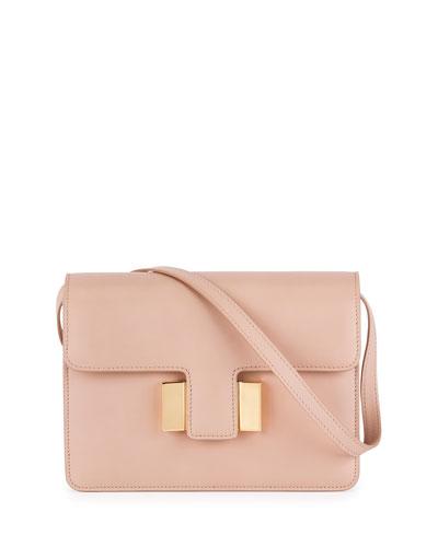 Sienna Small T-Buckle Crossbody Bag, Blush