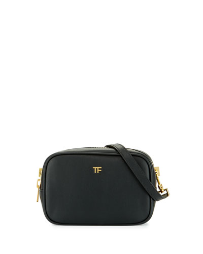 Tom Ford Tf Leather Camera Bag With Crossbody Strap