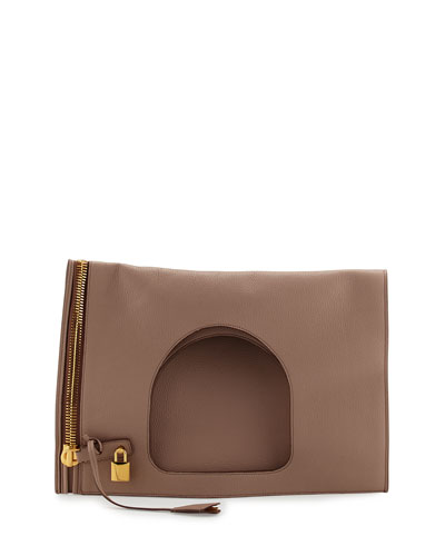 Alix Leather Padlock & Zip Hobo Bag