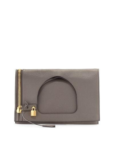 Alix Medium Calf Leather Hobo Bag, Graphite