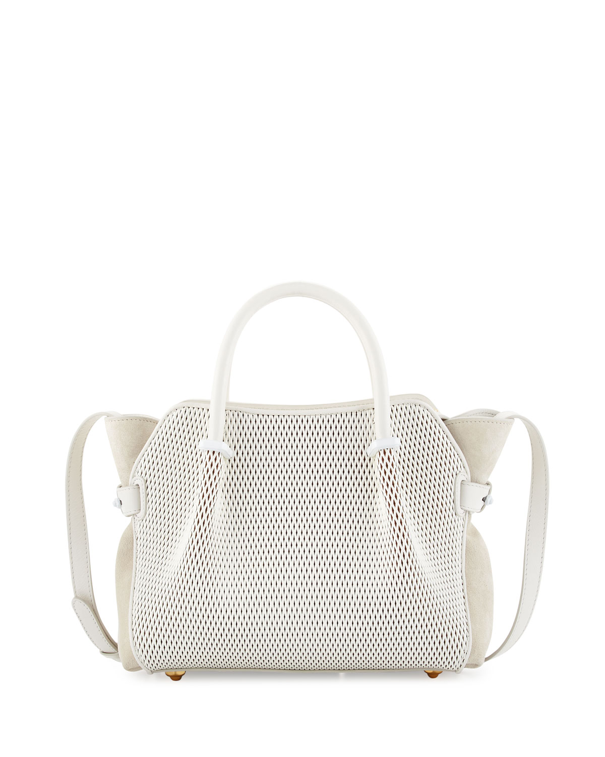 Marche Extra-Small Leather Satchel Bag, White